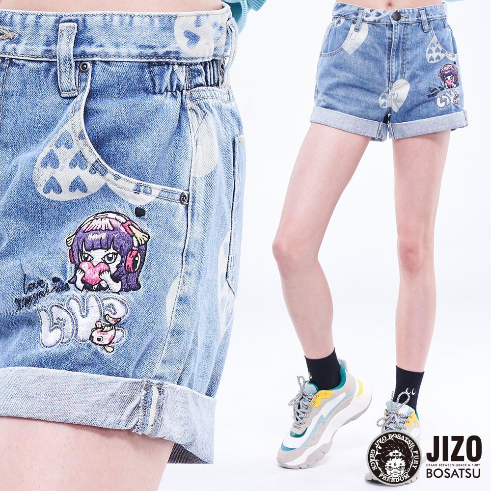【2020春夏新品】金魚姬愛心精繡短褲  - BLUE WAY  JIZO 地藏小王 0