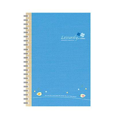 美加美 AO3016 50K悠閒生活膠圈筆記-藍 3本 /包