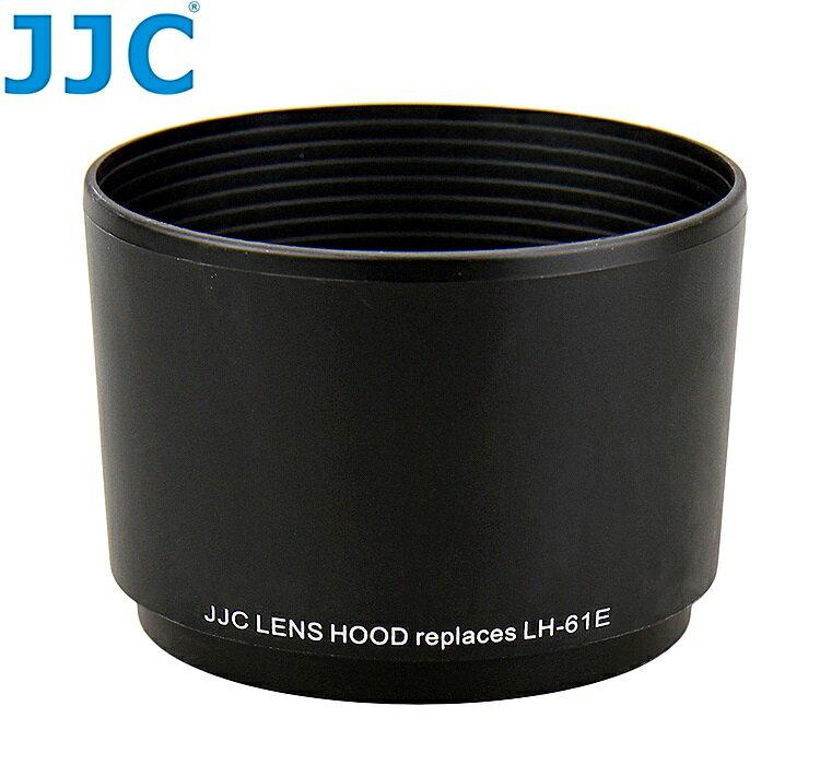 又敗家@JJC奧林巴斯副廠OLYMPUS遮光罩LH-61E遮光罩(可反扣副廠遮光罩,相容Olympus原遮光罩LH61E遮光罩)適M.Zuiko Digital ED 75-300mm 1:4.8-6.7 70-300mm 1:4-5.6 4/3 MZD M.ZD f4.8-6.7 f4-5.6 lens hood遮陽罩遮罩LH-61E太陽罩