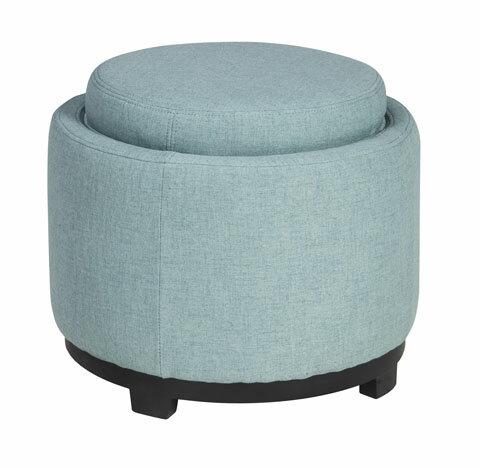 Ashley愛室麗家居》A30000儲物腳凳-藍