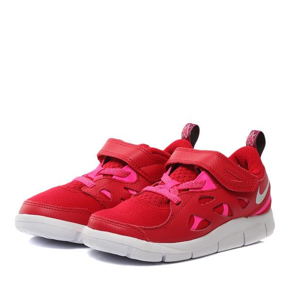 《限時特價↘7折免運》NIKE FREE RUN 2 PRINT GTV 童鞋 小童 慢跑 休閒 赤足 輕量 紅 【運動世界】 743889-602
