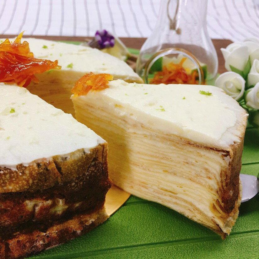 【蕉研食嚥室】蜂蜜檸檬千層蛋糕6吋甜點蛋糕
