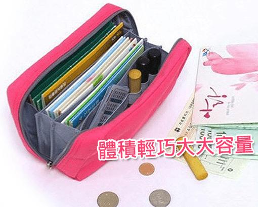韓版多功能存摺印鑑化妝包(一組2入顏色隨機出貨)