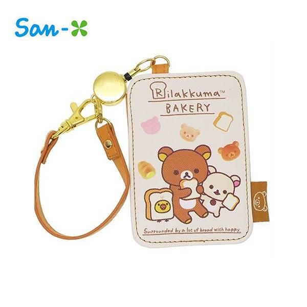 【日本正版】拉拉熊皮質彈力票卡夾票夾證件夾悠遊卡夾懶懶熊RilakkumaSan-X-456887