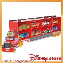 【真愛日本】16120400014專賣店Cars2世界大賽賽車拖車組  迪士尼Cars 汽車總動員 閃電麥坤  收藏 擺飾 聖誕節 交換禮物 聖誕市集