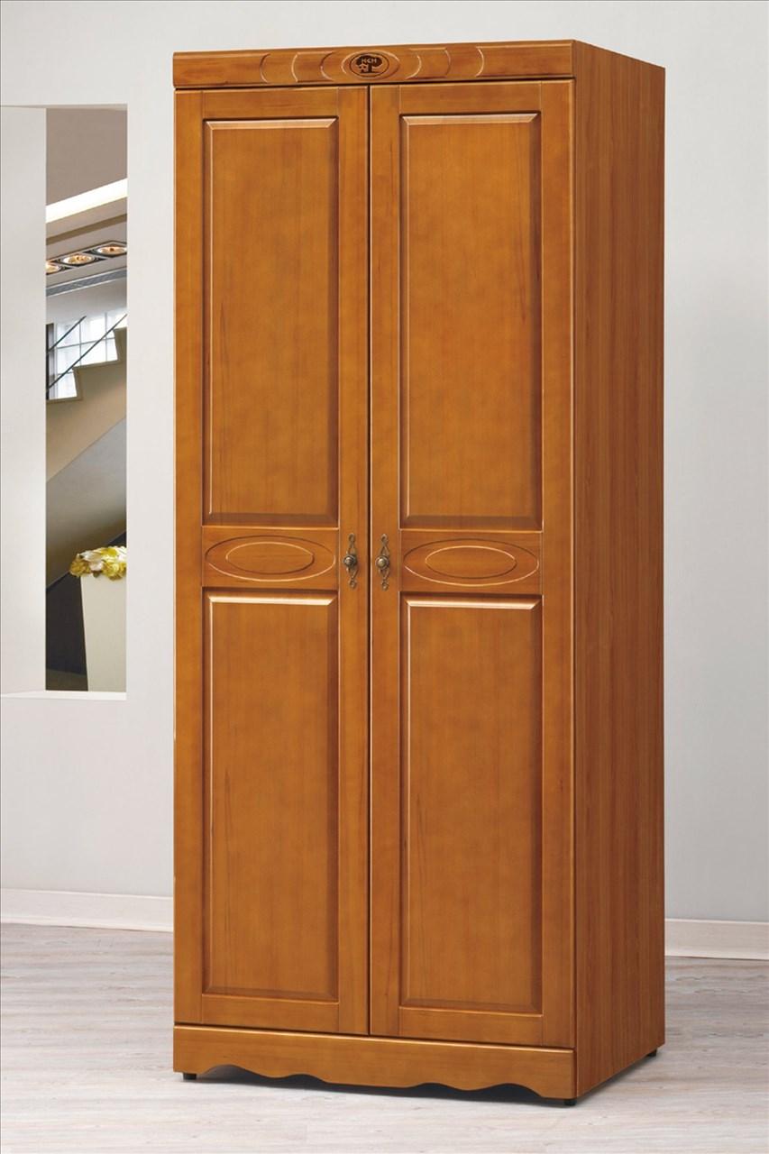 【石川家居】EF-30-2 伊琳諾樟木色2.7尺雙吊衣櫥 (不含其他商品) 需搭配車趟