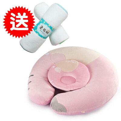 【悅兒樂婦幼用品舘】COTEX 親子多用途授乳枕-粉色【買再送Cotex柔布帕x1】