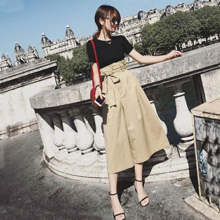 夏裝新款套裝韓版時尚顯瘦兩件套春秋季休閒氣質闊腿褲套裝女