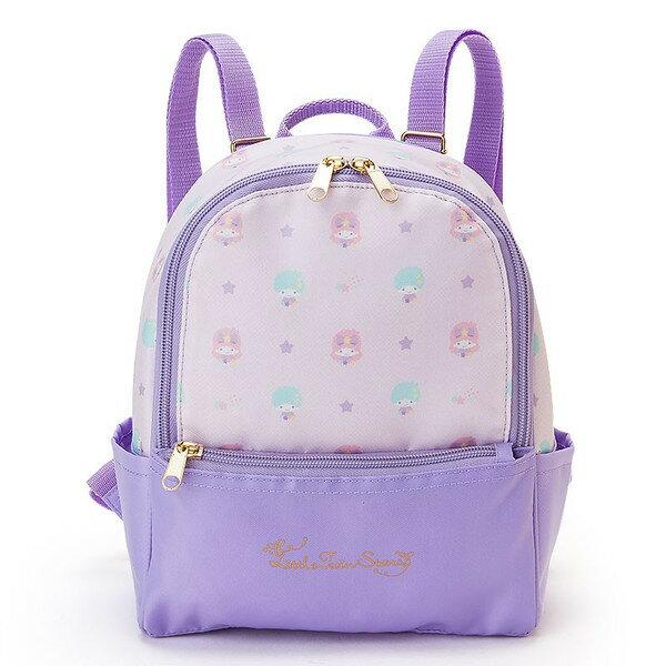【真愛日本】16051800024雙色後背包S-TS星星紫  三麗鷗家族 Kikilala 雙子星 後背包 背包 書包