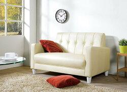 【尚品傢俱】HY-B250-03 東尼米白色皮沙發~不含抱枕 (2人座) 另有黑色