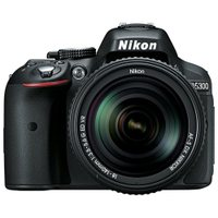 Nikon D5300 24.2 Megapixel Digital SLR Camera with Lens - 18 mm - 55 mm - Black - 3.2