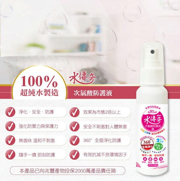 水蘋果【快速到貨~刷卡含稅】水傳奇次氯酸防護噴霧 100ML