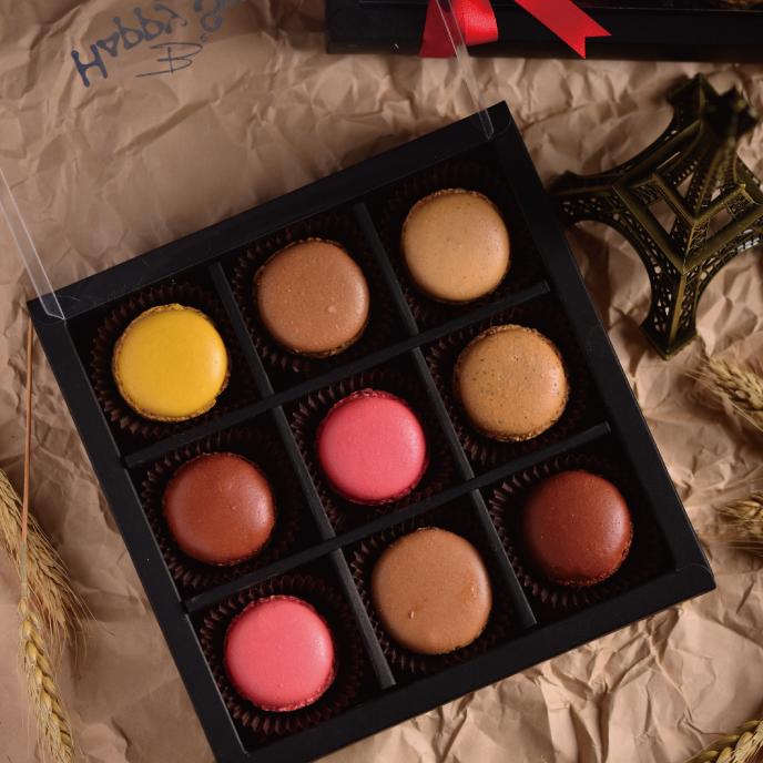【食感旅程Palatability】 甜蜜蜜馬卡龍9入禮盒  冬季限定聖誕甜點 1
