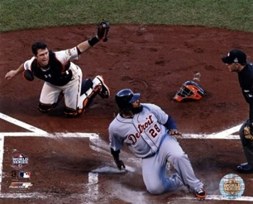 Buster Posey tags out Prince Fielder Game 2 of the 2012 MLB World Series Action Photo Print (20 x 24) cceb51e550ba70de7d8ccd860f24ffb8