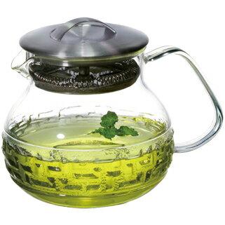 【佑銘嚴選E-PL001-70-B】茶大師-如意紋款(700ml)單層玻璃保溫杯/茶壺/耐熱玻璃