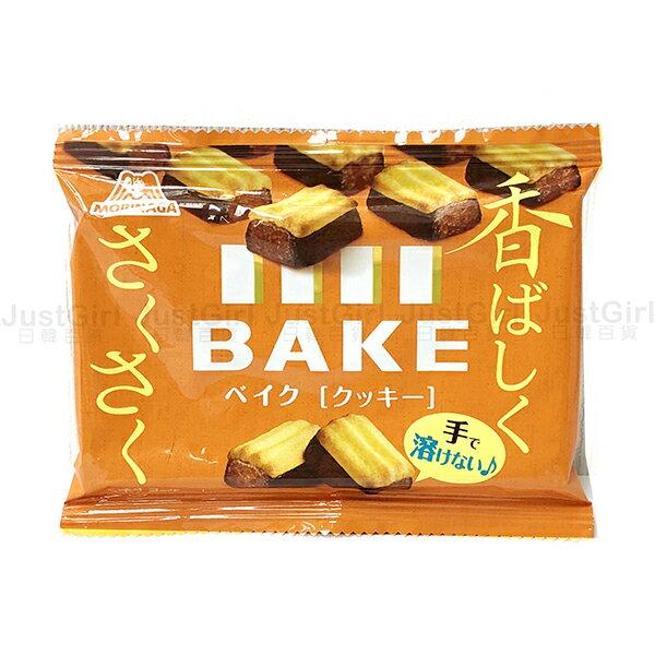 森永 BAKE 巧克力餅 烤餅乾 巧克力磚 10塊入 食品 日本製造進口 JustGirl