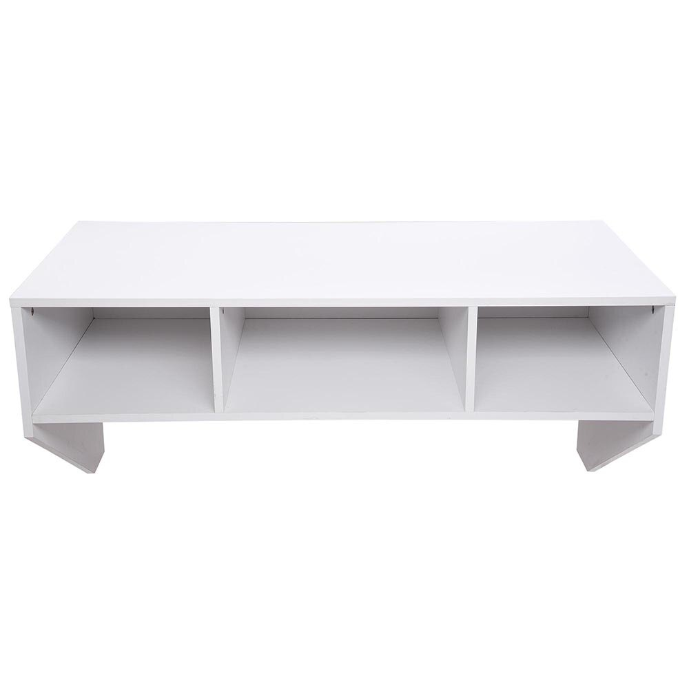 Wall Mounted Floating Desk with Storage - 80lbs Weight Capacity - White 2