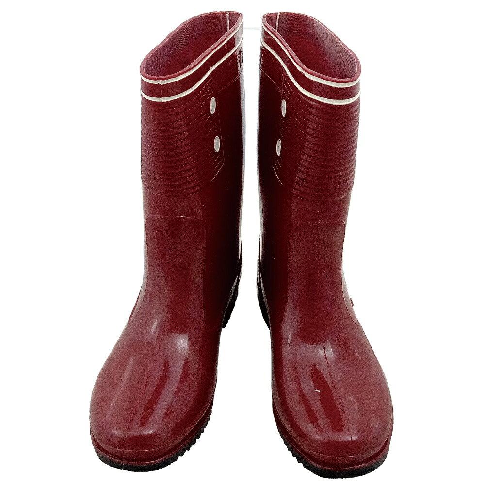 小玩子 台興牌 女用 紅色 雨鞋 條紋 柔軟 舒適  耐磨 耐穿 防滑 防水 W~1301