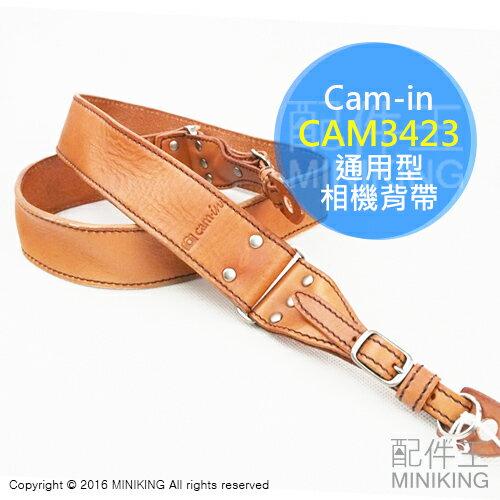 ~ 王~  Cam~in CAM3423 型相機背帶 淺棕色 仿舊水洗款 義大利牛皮 減壓