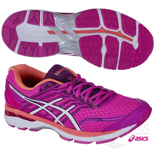 ASICS亞瑟士女慢跑鞋GT-20005(桃紅橘)輕量.緩衝.安定的專業鞋款【胖媛的店】