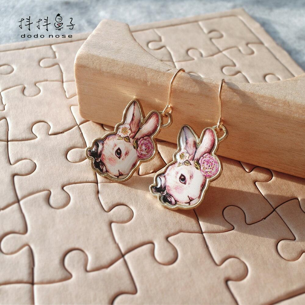大小姐兔公主勾式耳環 3