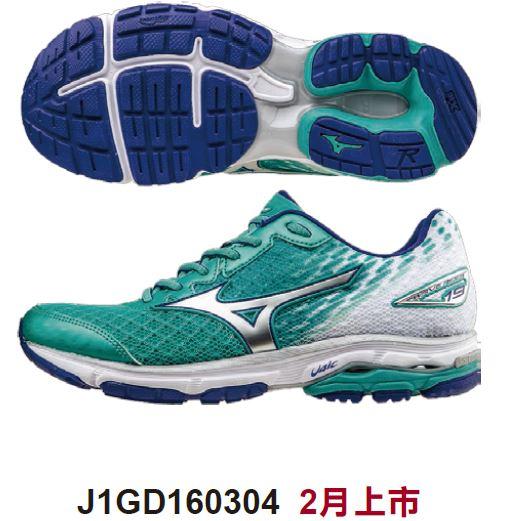 [陽光樂活] MIZUNO 美津濃 RIDER 19 女款 慢跑鞋 路跑 馬拉松 運動鞋 J1GD160304