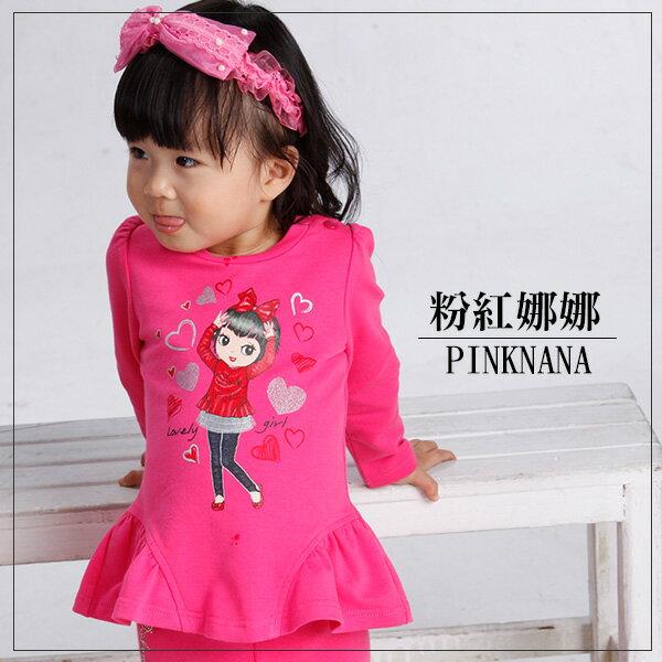 Pink Nana:PINKNANA童裝小童娜娜圖樣棉質上衣S30535