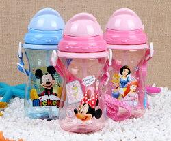 迪士尼夏季兒童吸管杯/背帶式水壺/曲線水壺-(米奇/米妮/公主/CARS)單售