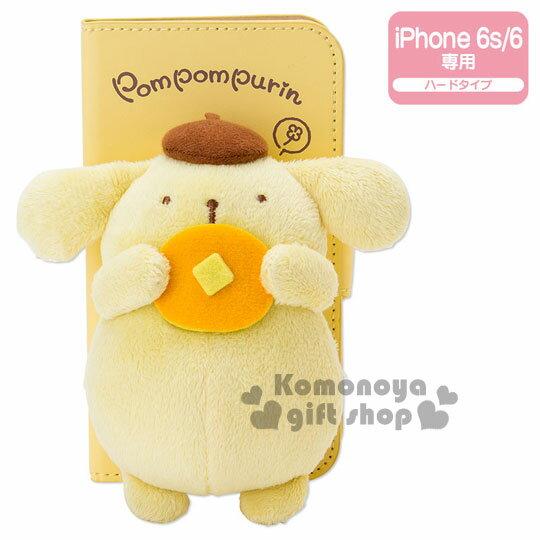 〔小禮堂〕布丁狗 iPhone6造型玩偶皮革掀蓋裝飾殼《黃.吃鬆餅》鬆餅系列