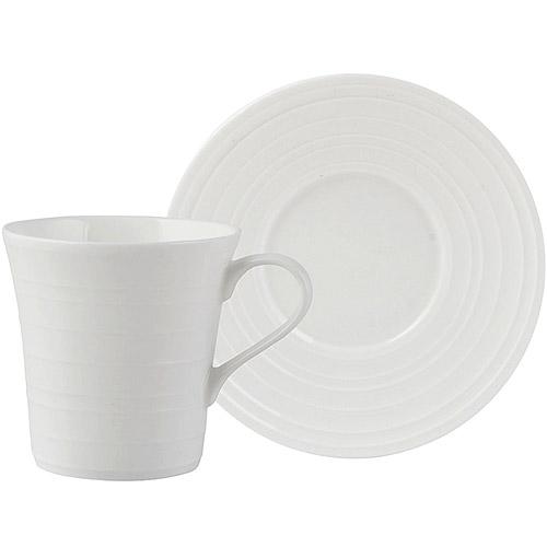 《CreativeTops》Mikasa漣漪骨瓷濃縮咖啡杯碟組(130ml)