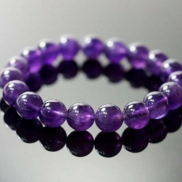 【喨喨飾品】紫水晶手鍊改善個人的磁場跟調氣的功效A418