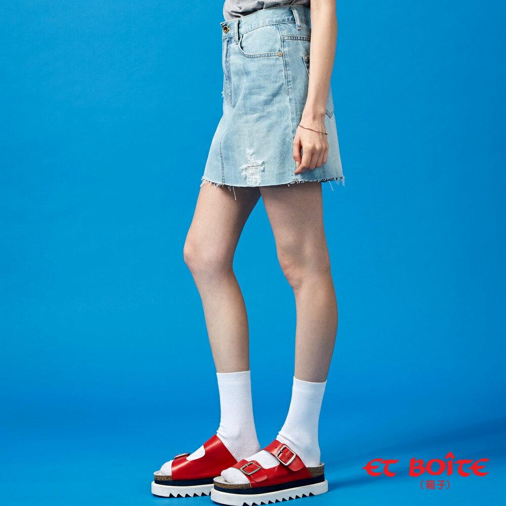 【春夏新品】激光刷破牛仔短裙- BLUE WAY  ET BOiTE 箱子 2