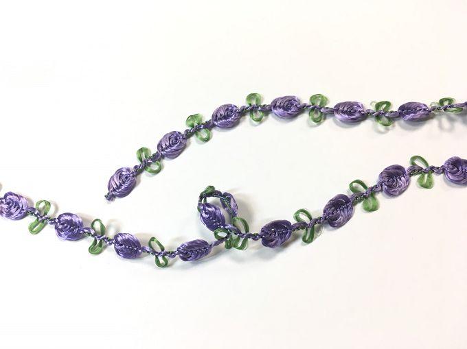 【Crystal Rose緞帶專賣店】10mm 花飾織帶 (9色) 2