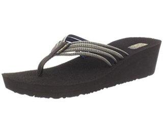 [陽光樂活=]TEVA (女)美國水陸運動品牌 Mush 夾腳厚底高跟拖鞋 TV1000098TXCC (巧克力碎片)