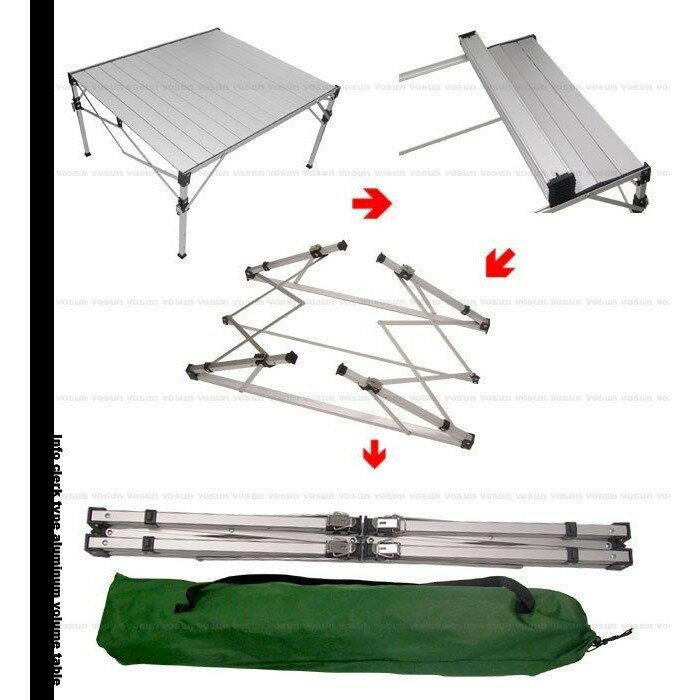 【悠遊戶外】贈桌巾 TAB-980H 加粗改良 鋁合金蛋捲桌折疊桌 速可搭 1