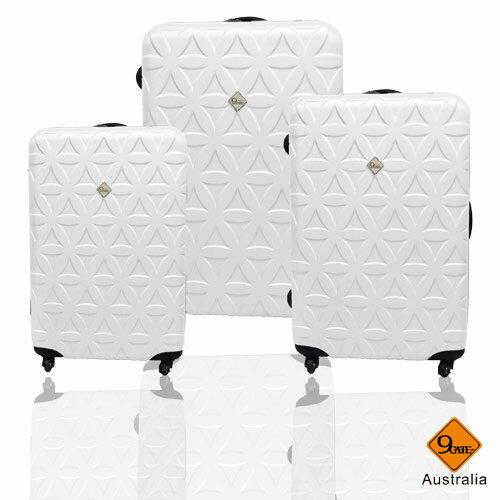 ✈Gate9花花系列ABS霧面輕硬殼三件組旅行箱 / 行李箱 2