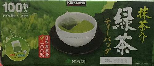 KIRKLAND  綠茶包 伊藤園 代工 立體茶包 100袋  盒