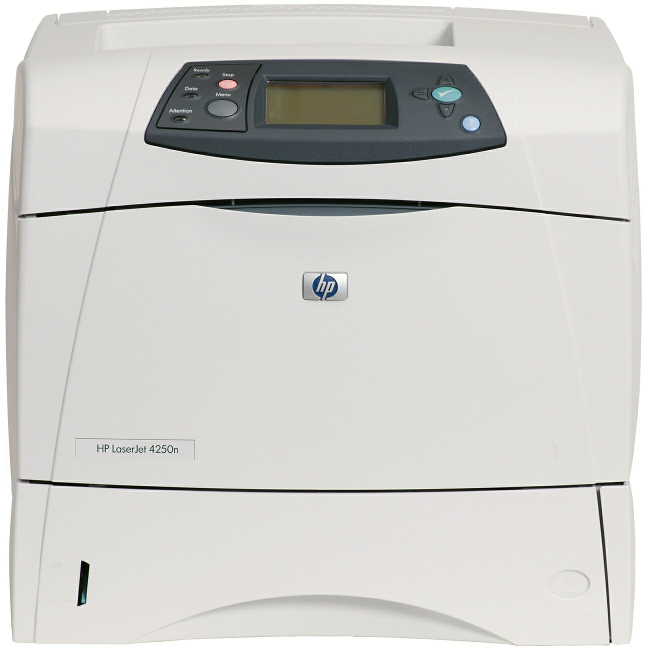 HP LaserJet 4250N Laser Printer - Monochrome - 1200 x 1200 dpi Print - Plain Paper Print - Desktop - 45 ppm Mono Print - Letter, Legal, Executive, Statement, Envelope No. 10, Monarch Envelope, Custom Size - 200000 Duty Cycle - Manual Duplex Print - Ethern 0