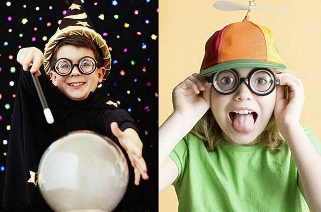 巫師眼鏡 哈利波特 假近視眼鏡 哈利眼鏡 博士眼鏡 搞笑眼鏡 放大眼鏡【塔克】