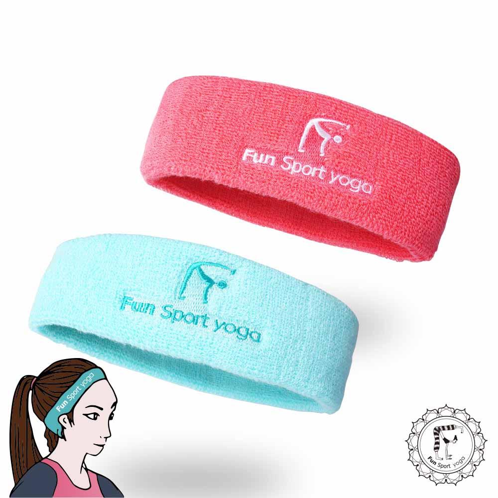 樂芙me 彈性運動頭帶- 2入 (髮帶/止汗帶/運動毛巾)FunSport yoga