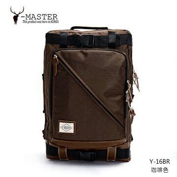 【愛瘋潮】正韓 韓國直送 Y-MASTER 城市探險-15.5吋電腦相機後背包 Y-16BR (咖啡色)