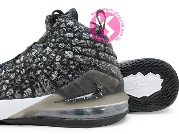 2019-2020 NBA 最新款 LeBRON JAMES 最新代言 NIKE LEBRON XVII GS 17 OREO 大童鞋 女鞋 黑白 雪花 FLYKNIT 飛織鞋面 前 ZOOM AIR 後 MAX 氣墊 小皇帝 雷霸龍 KING LAKERS 頂級科技 籃球鞋 (BQ5594-002) 1019 3