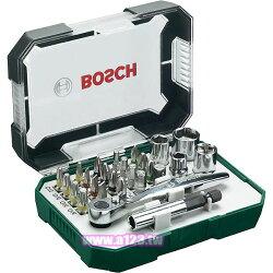 德國BOSCH 26件式棘輪起子頭組 螺絲起子頭 套筒 套筒接桿 棘輪扳手