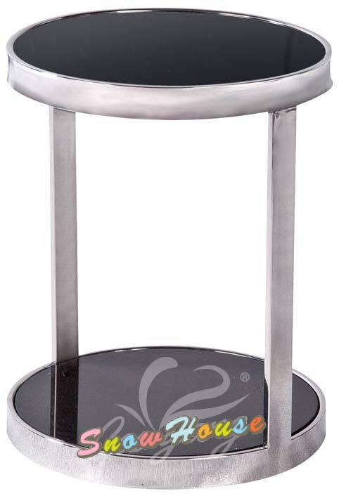 ╭☆雪之屋居家生活館☆╯989-01 028圓型黑玻璃茶几/茶桌/置物桌