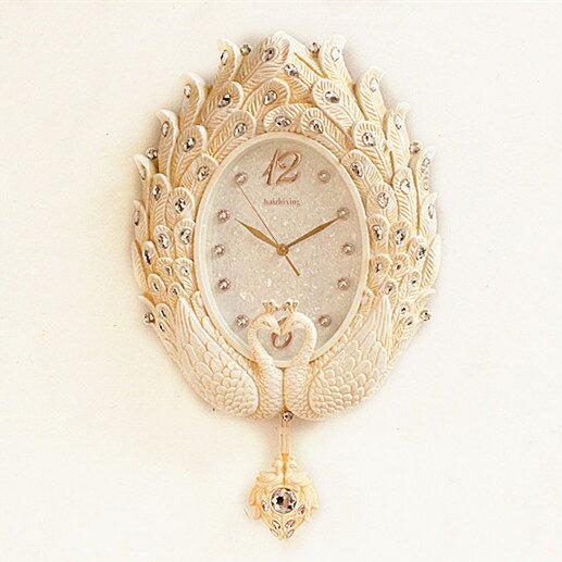 夯貨折扣! 海之星歐式掛鐘客廳鐘錶創意時尚靜音藝術簡約時鐘豪華掛錶