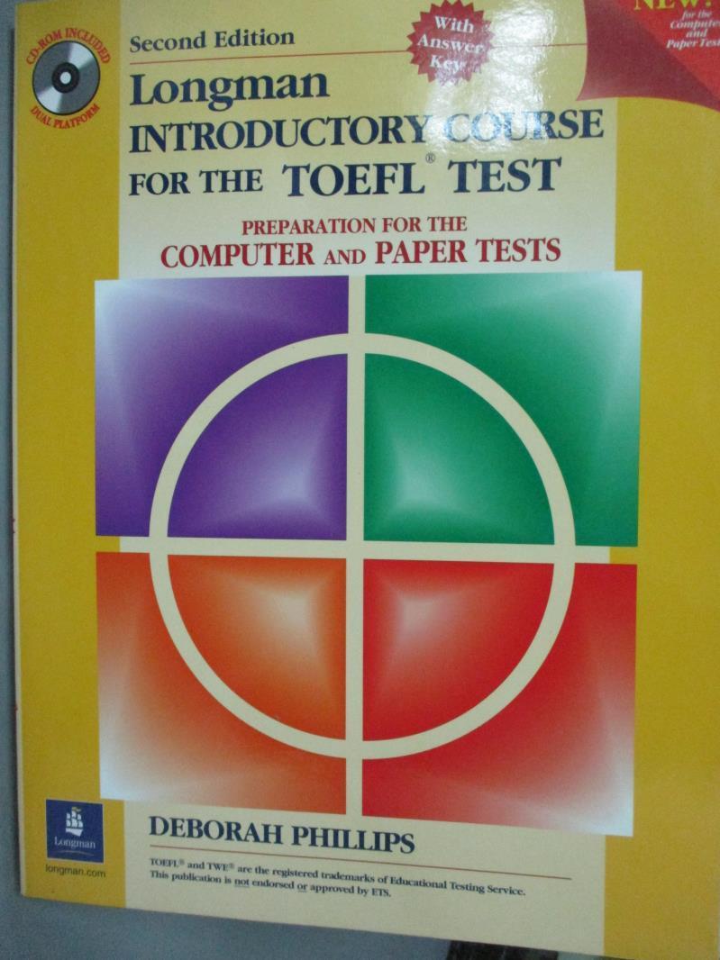 【書寶 書T2/語言學習_QAV】Longman Introductory Course for the Toefl