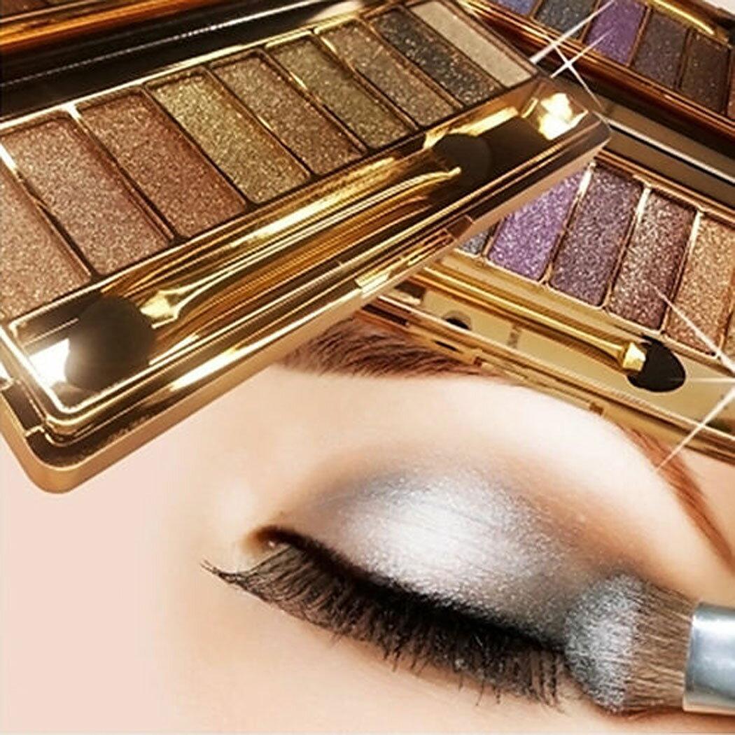 9 colors Waterproof Makeup Glitter Eyeshadow Palette with Brush 1
