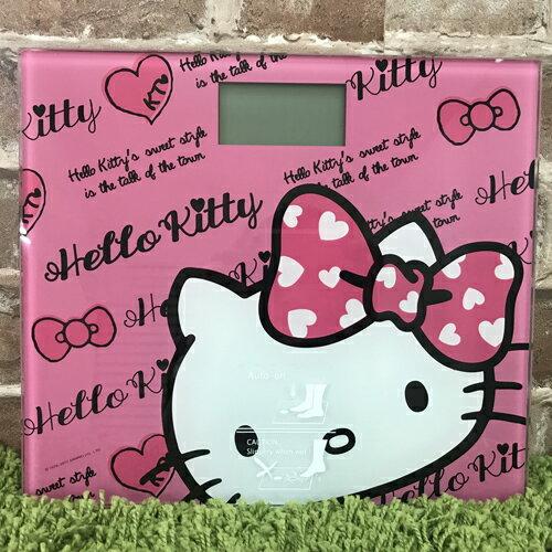【真愛日本】17092300001 電子體重計-KT大臉字母粉 三麗鷗kitty凱蒂貓 LCD螢幕體重計 生活用品