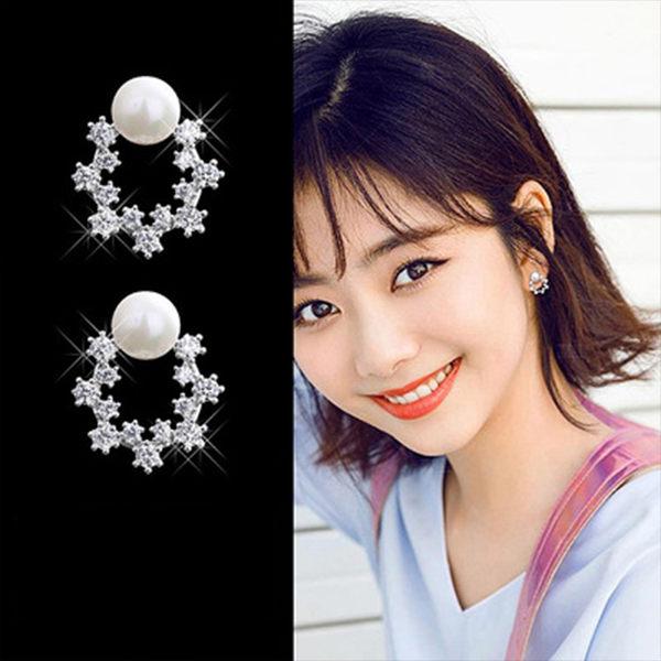 PS Mall 韓版甜美珍珠氣質圓圈幾何耳環【G047】 0