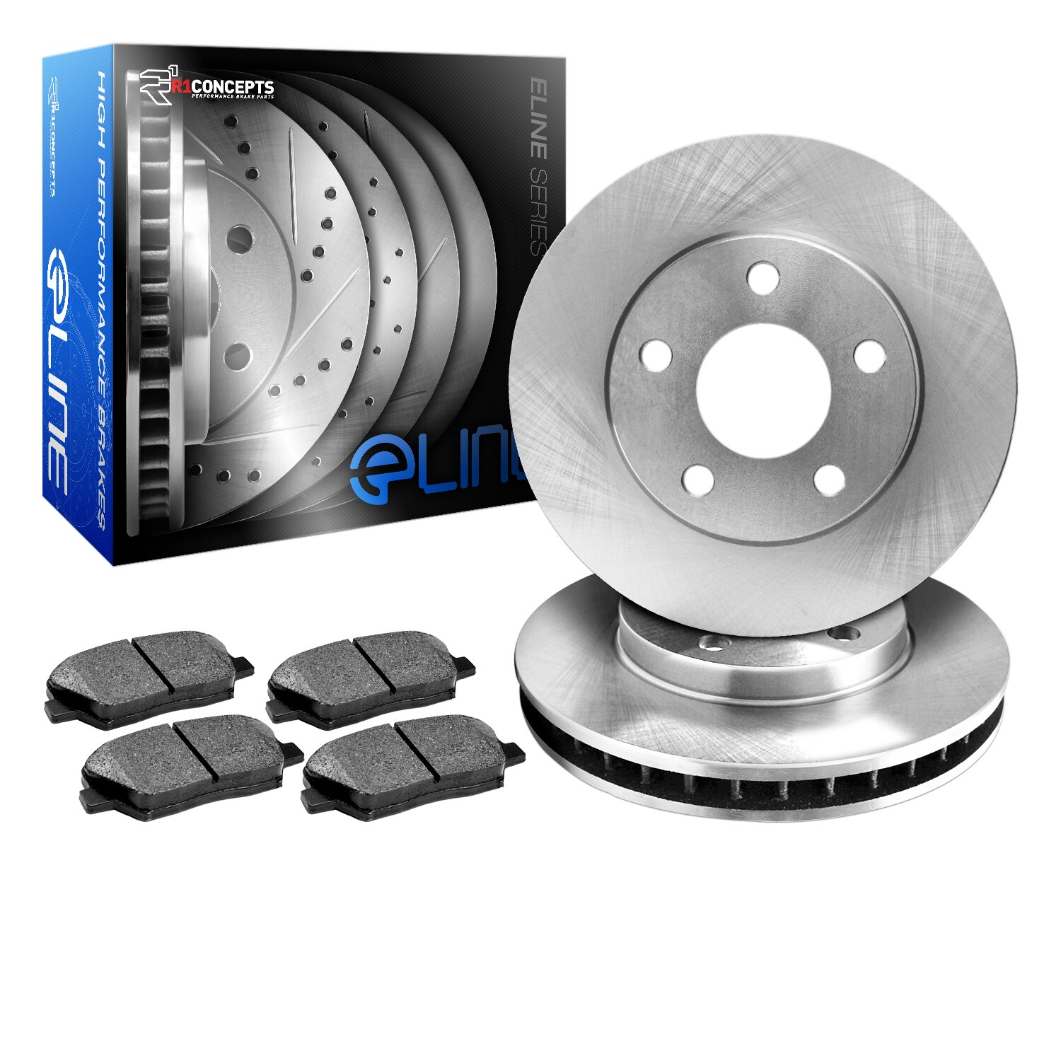 [REAR] eLine Replacement Brake Rotors & Ceramic Brake Pads 0
